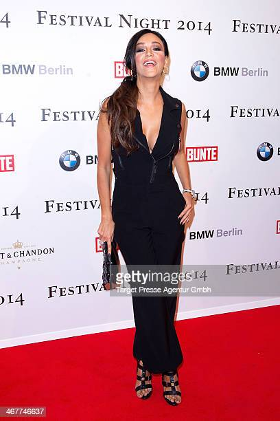 Verona Pooth attends the Bunte BMW Festival Night 2014 at Humboldt Carree on February 7 2014 in Berlin Germany