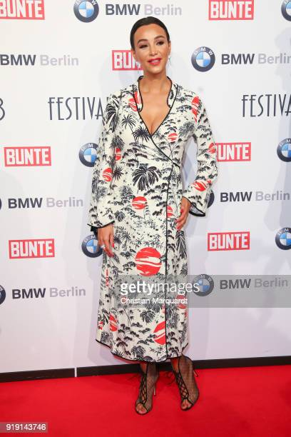 Verona Pooth attends the BUNTE BMW Festival Night on the occasion of the 68th Berlinale International Film Festival Berlin at Restaurant Gendarmerie...