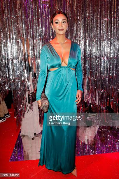 Verona Pooth attends the Ein Herz Fuer Kinder Gala reception at Studio Berlin Adlershof on December 9 2017 in Berlin Germany