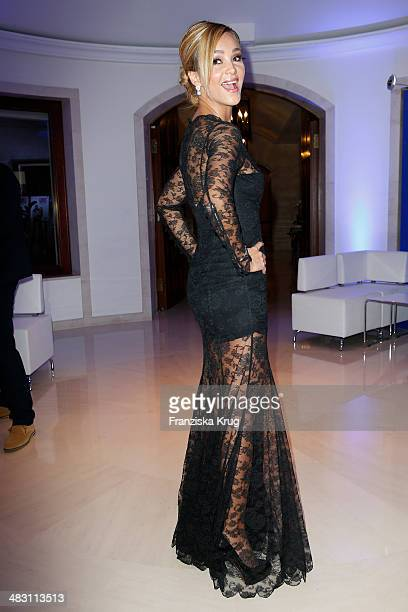 Verona Pooth attends the Felix Burda Award 2014 at Hotel Adlon on April 06 2014 in Berlin Germany