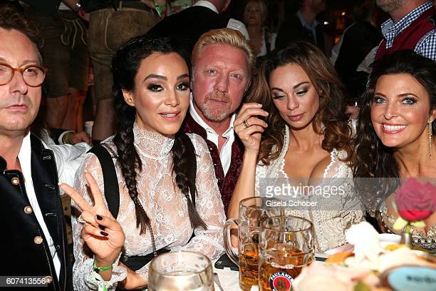 Verona Pooth Boris Becker and his wife Lilly Becker Franjo Pooth and Mrs Fritsch during the opening of the oktoberfest 2016 at the 'Kaeferschaenke'...