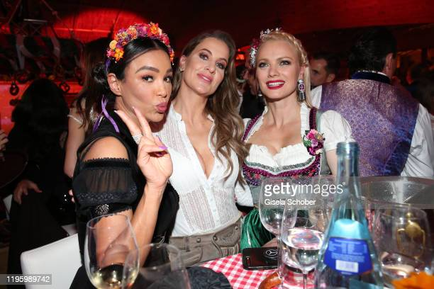 Verona Pooth, Charlotte Wuerdig, Franziska Knuppe, wearing jewelry by Thomas Jirgens, Juwelenschmiede, during the 29th Weisswurstparty at Hotel...
