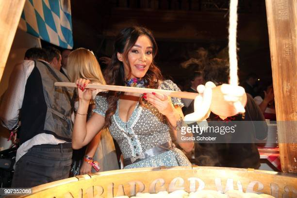 Verona Pooth during the 27th Weisswurstparty at Hotel Stanglwirt on January 19 2018 in Going near Kitzbuehel Austria