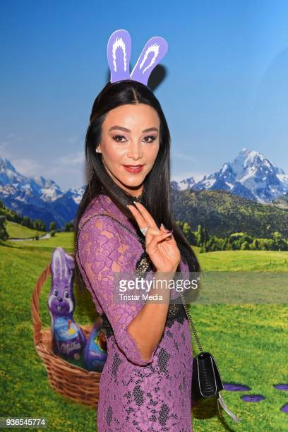 Verona Pooth during the Milka Osterbrunch at Studio Lassen on March 22, 2018 in Hamburg, Germany.