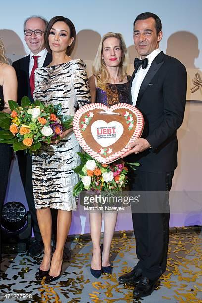 Verona Pooth Erol Sander and his wife Caroline Goddet attends the Felix Burda Award 2015 on April 26 2015 in Berlin Germany