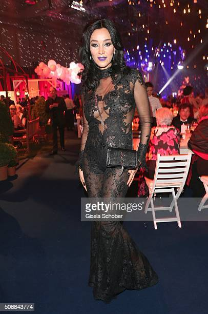 Verona Pooth wearing a dress by Lana Mueller Couture during the after show party of the Goldene Kamera 2016 on February 6 2016 in Hamburg Germany