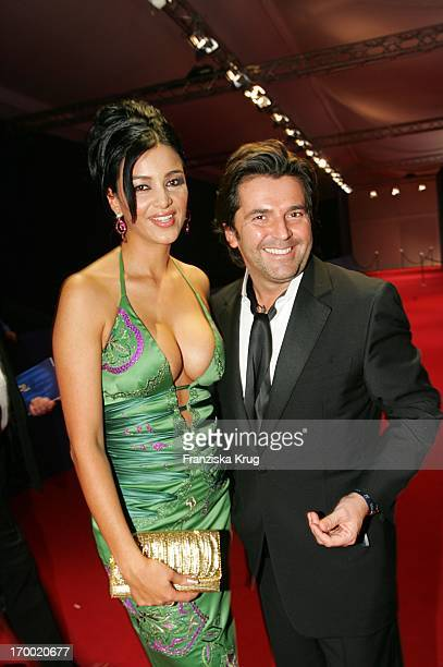 Verona Pooth with Thomas Anders at the aftershow party for media prize 'Bambi' in Hamburg