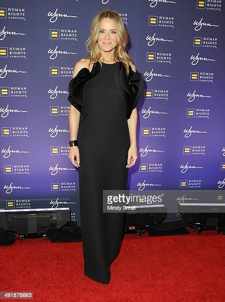Veronic DiCaire arrives at the 9th Annual Human Rights Campaign Gala at the Wynn Las Vegas on May 17, 2014 in Las Vegas, Nevada.