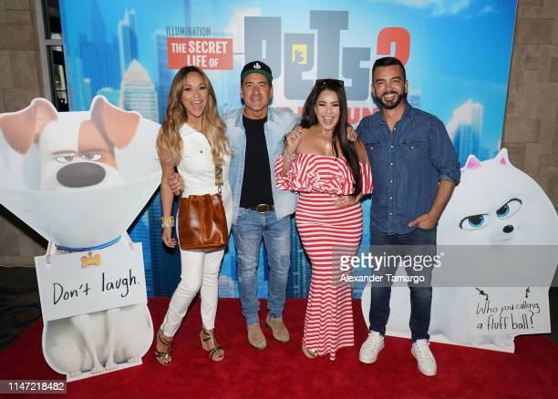 Veronica Bastos Jorge Bernal Carolina Sandoval and Juan Manuel Cortes attend the Telemundo Symphony Screening For The Secret Life Of Pets 2 at...