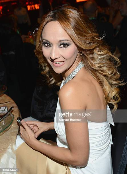 Veronica Bastos poses during the 2012 Person of the Year honoring Caetano Veloso at the MGM Grand Garden Arena on November 14 2012 in Las Vegas Nevada