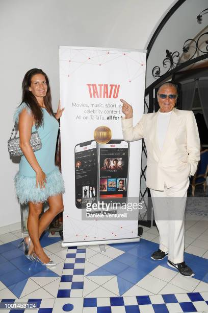 Veronica Berti and Tony Renis attend 2018 Ischia Global Film Music Fest on July 18 2018 in Ischia Italy