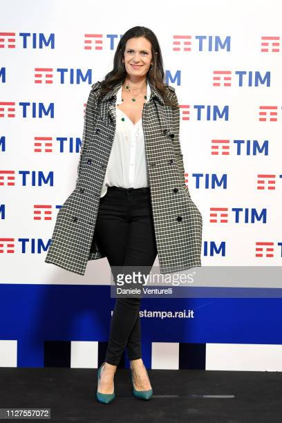 Veronica Berti attends a photocall on the first day of the 69. Sanremo Music Festival at Teatro Ariston on February 05, 2019 in Sanremo, Italy.
