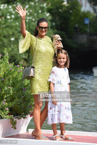Veronica Berti Bocelli and her daughter Virginia Bocelli are seen arriving at the 76th Venice Film Festival on September 01, 2019 in Venice, Italy.