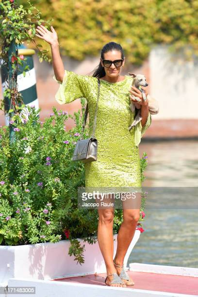 Veronica Berti is seen arriving at the 76th Venice Film Festival on September 01, 2019 in Venice, Italy.
