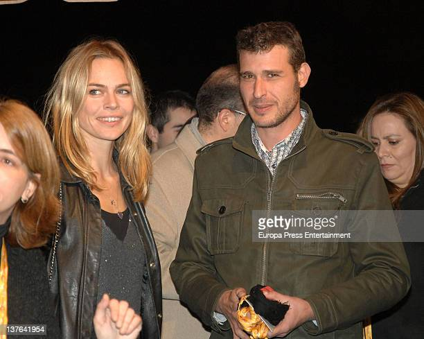 Veronica Blume and boyfriend are seen on January 20 2012 in Barcelona Spain