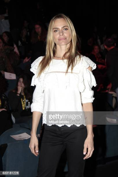 Veronica Blume attends the front row of Lola Casademunt show during the Barcelona 080 Fashion Week Autumn/Winter 2017 at Teatre Nacional de Catalunya...