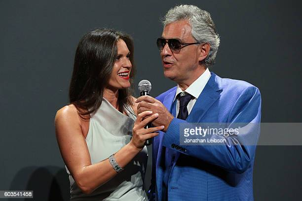 Veronica Bocelli and Andrea Bocelli attend the closing night reception at Salone del Tronoin Palazzo Corsini as part of Celebrity Fight Night Italy...