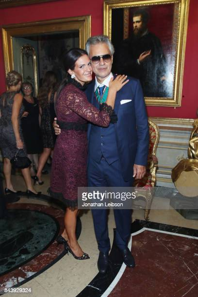 Veronica Bocelli and Andrea Bocelli attend the Dinner and Entertainment at Palazzo Colonna as part of the 2017 Celebrity Fight Night in Italy...