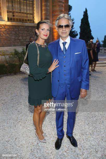 Veronica Bocelli and Andrea Bocelli attend the Dinner at Villa Madama as part of the 2017 Celebrity Fight Night in Italy Benefiting The Andrea...