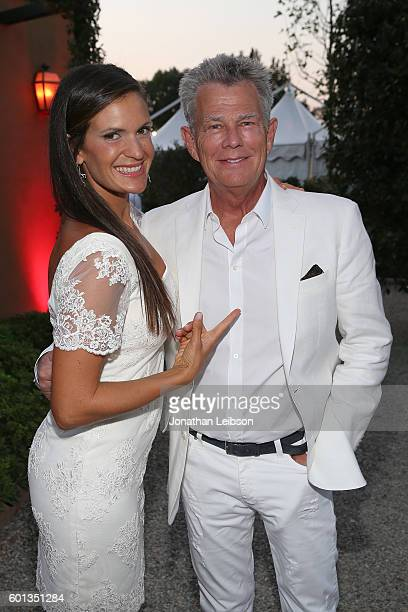 Veronica Bocelli and David Foster attend a dinner and reception at Andrea Bocelli's country home as part of Celebrity Fight Night Italy benefiting...