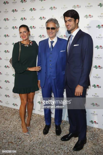 Veronica Bocelli Andrea Bocelli and Matteo Bocelli attend the Dinner at Villa Madama as part of the 2017 Celebrity Fight Night in Italy Benefiting...