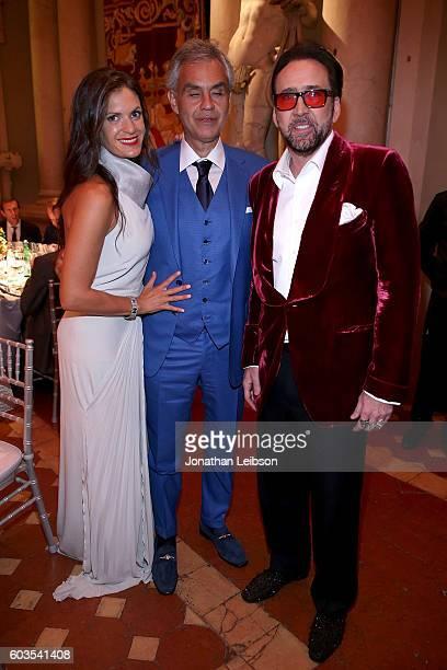 Veronica Bocelli Andrea Bocelli and Nicolas Cage attend the closing night reception at Salone del Tronoin Palazzo Corsini as part of Celebrity Fight...