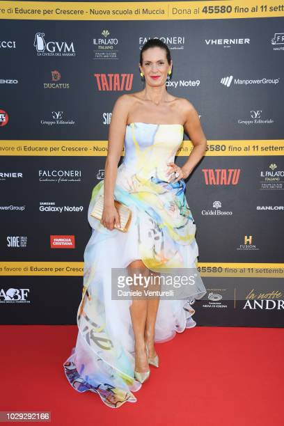 Veronica Bocelli attends Celebrity Fight Night at Arena di Verona on September 8, 2018 in Verona, Italy.