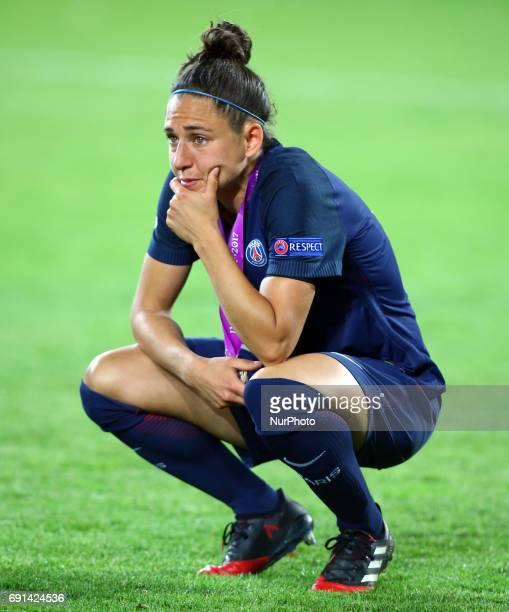 Veronica Boquete of Paris SaintGermain Feminies during the UEFA Women's Champions League Final match between Olympique Lyonnais Feminies and Paris...