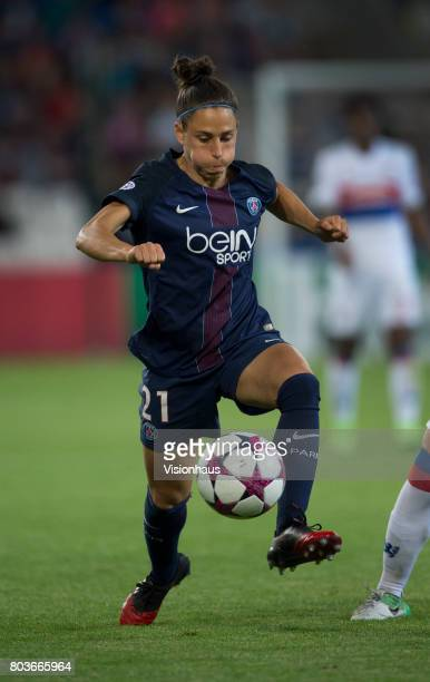 Veronica Boquete of Paris St Germain in action during the UEFA Women's Champions League Final between Olympique Lyonnais and Paris St Germain at the...