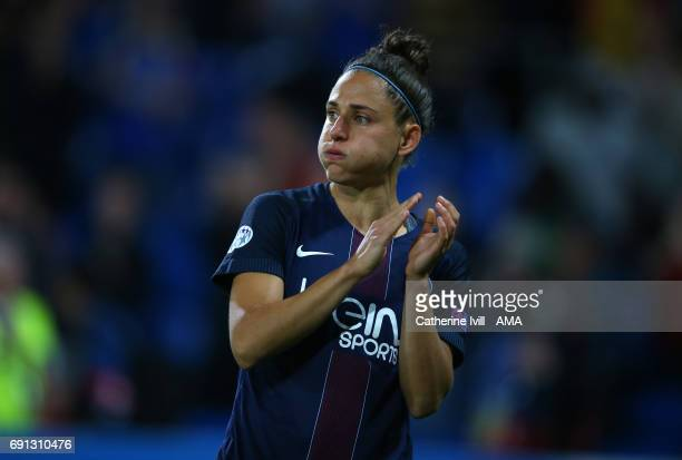 Veronica Boquete of PSG after the UEFA Women's Champions League Final match between Lyon and Paris Saint Germain at Cardiff City Stadium on June 1...