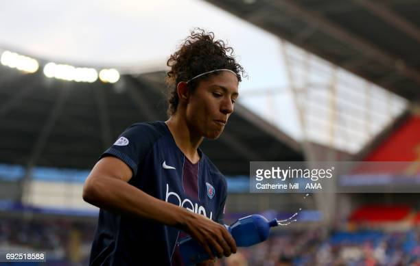 Veronica Boquete of PSG during the UEFA Women's Champions League Final match between Lyon and Paris Saint Germain at Cardiff City Stadium on June 1...