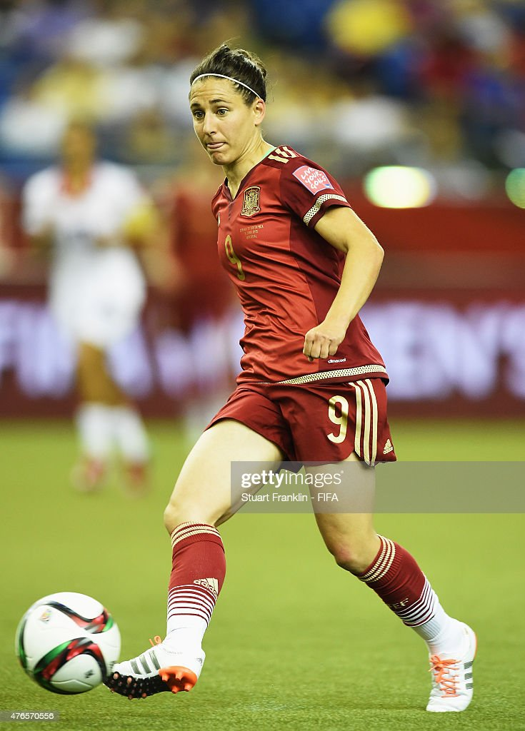 Veronica Boquete of Spain in action during the FIFA Women's World Cup 2015 group E match between Spain and Costa Rica at Olympic Stadium on June 9, 2015 in Montreal, Canada.
