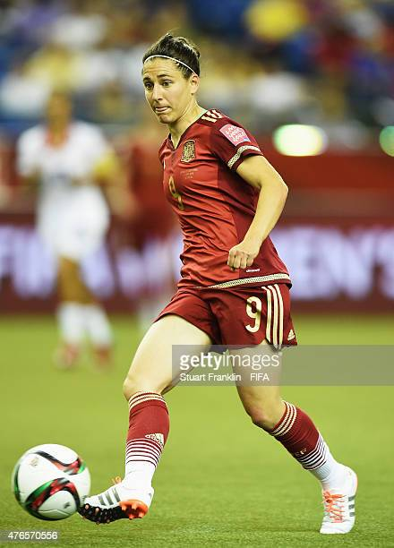 Veronica Boquete of Spain in action during the FIFA Women's World Cup 2015 group E match between Spain and Costa Rica at Olympic Stadium on June 9...