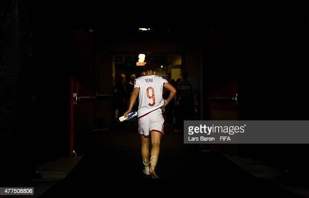 Veronica Boquete of Spain leaves the pitch after loosing the FIFA Women's World Cup 2015 Group E match between Korea Republic and Spain at Lansdowne...