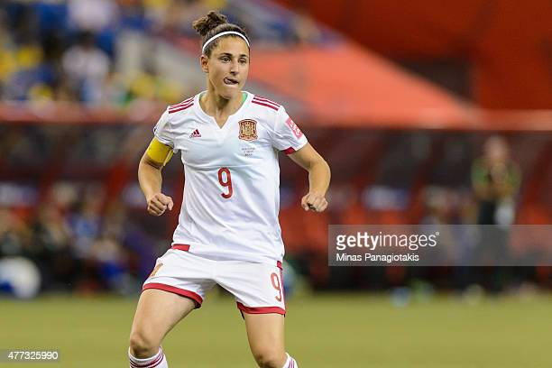 Veronica Boquete of Spain looks on during the 2015 FIFA Women's World Cup Group E match against Brazil at Olympic Stadium on June 13 2015 in Montreal...