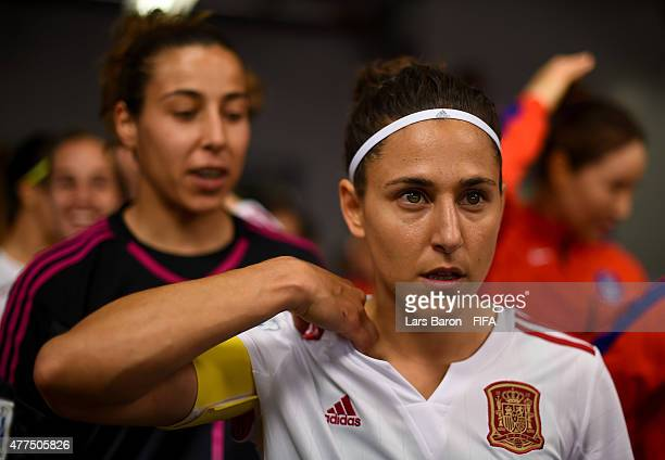 Veronica Boquete of Spain looks on prior to the FIFA Women's World Cup 2015 Group E match between Korea Republic and Spain at Lansdowne Stadium on...