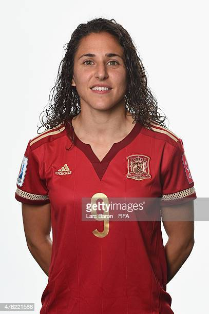 Veronica Boquete of Spain poses during the FIFA Women's World Cup 2015 portrait session at Sheraton Le Centre on June 6 2015 in Montreal Canada