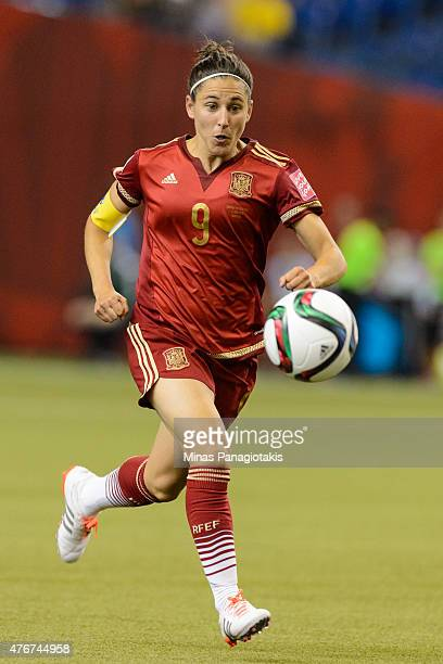 Veronica Boquete of Spain runs after the ball during the 2015 FIFA Women's World Cup Group E match against Costa Rica at Olympic Stadium on June 9...
