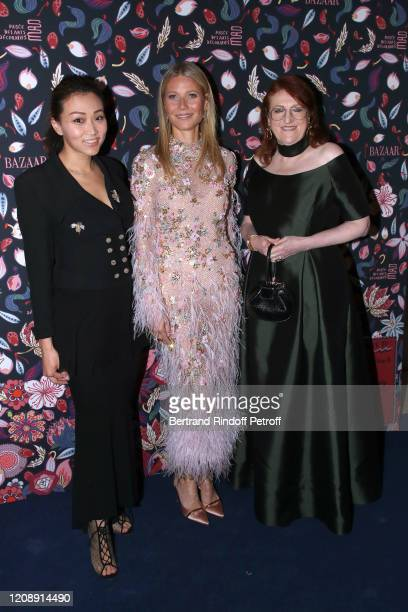 Veronica Chou Gwyneth Paltrow and Dame Glenda Bailey attend the Harper's Bazaar Exhibition as part of the Paris Fashion Week Womenswear Fall/Winter...