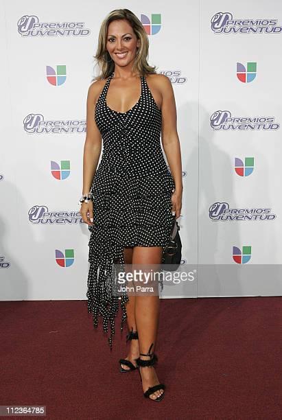 Veronica Del Castillo during 2005 Premios de la Juventud - Arrivals at University of Miami in Coral Gables, Florida, United States.