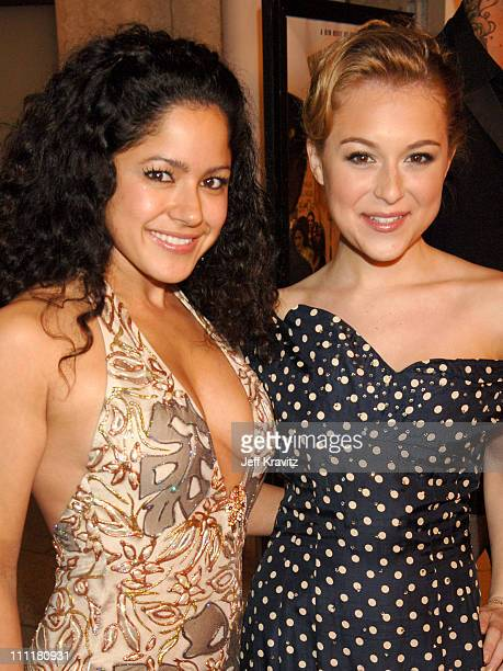 Veronica Diaz and Alexa Vega during HBO Films Walkout Premiere Red Carpet and After Party at Cinerama Dome in Hollywood California United States