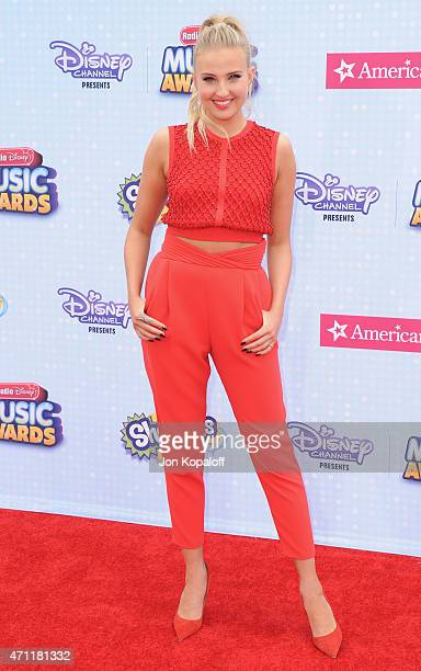 Veronica Dunne arrives at the 2015 Radio Disney Music Awards at Nokia Theatre LA Live on April 25 2015 in Los Angeles California