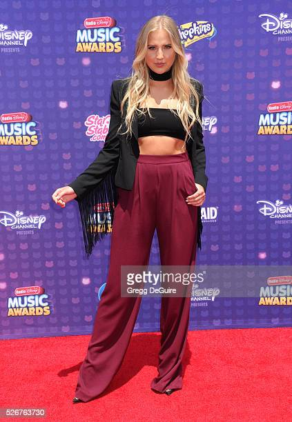 Veronica Dunne arrives at the 2016 Radio Disney Music Awards at Microsoft Theater on April 30 2016 in Los Angeles California