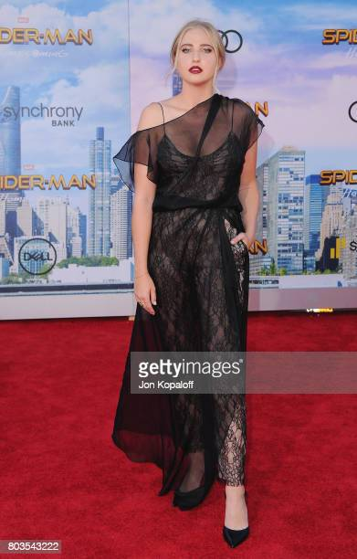 Veronica Dunne arrives at the Los Angeles Premiere 'SpiderMan Homecoming' at TCL Chinese Theatre on June 28 2017 in Hollywood California
