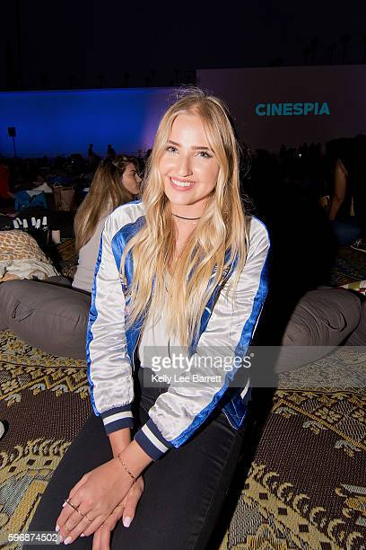 Veronica Dunne attends Cinespia's screening of 'Poltergeist' held at Hollywood Forever on August 27 2016 in Hollywood California