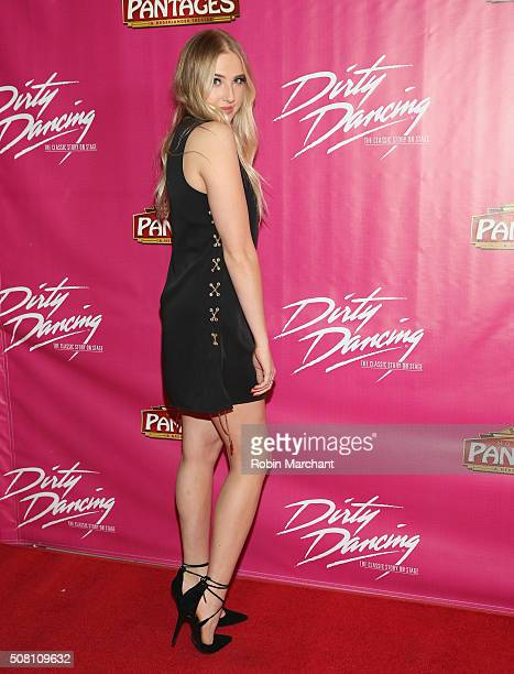 Veronica Dunne attends Opening Night Of 'Dirty Dancing The Classic Story On Stage' at the Pantages Theatre on February 2 2016 in Hollywood California