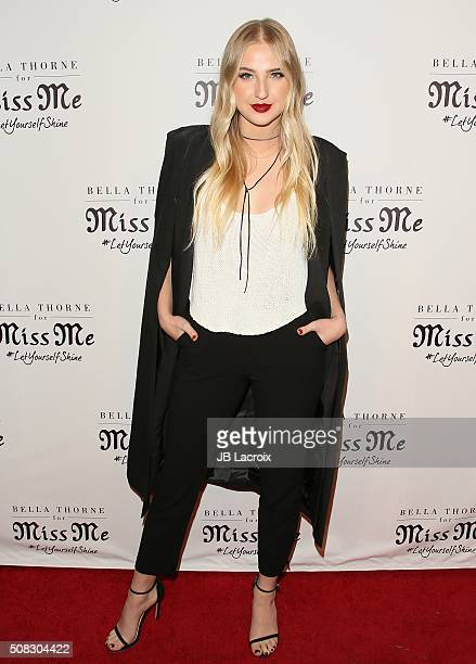 Veronica Dunne attends the Miss Me and Cosmopolitan's spring campaign launch event on February 3 2016 in West Hollywood California