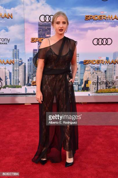 Veronica Dunne attends the premiere of Columbia Pictures' 'SpiderMan Homecoming' at TCL Chinese Theatre on June 28 2017 in Hollywood California