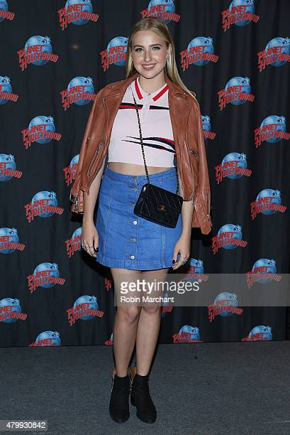 Veronica Dunne visits at Planet Hollywood Times Square on July 8 2015 in New York City