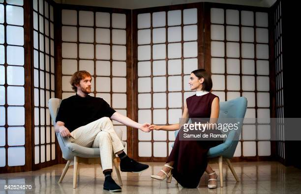 Veronica Echegui and Daniel Perez Prada during 'El Amante' Theatre Play in Madrid on September 4 2017 in Madrid Spain